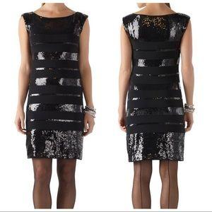 WHBM striped sequin sheath party hoco dress medium